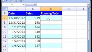 Excel Magic Trick #172: Running Total Formula or Pivot Table