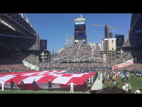 Seahawks vs Dolphins 9/11/16 National Anthem