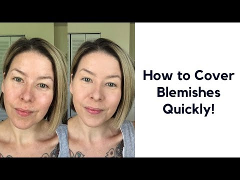 How to Cover Blemishes Quickly!