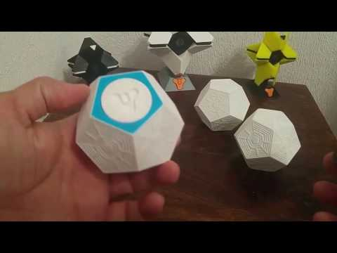 Engrams. Destiny Ghost game. 3D Printed.