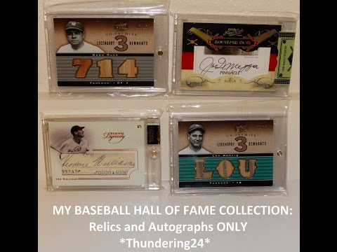 MY ENTIRE BASEBALL HALL OF FAME PC VID, updated Jan. 2016, AUTOS / RELICS / 1of1s