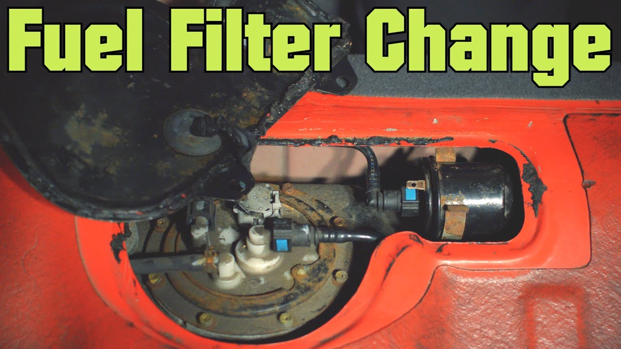 How to Change Fuel Filter - Hyundai Accent - YouTube
