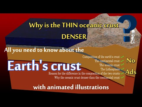 Why is the thin oceanic crust denser? All you need to know about the earth's crust