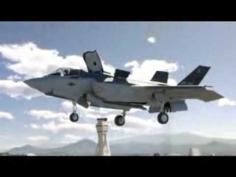 Lockheed F-35 fighter jet,  Strikeforce,  music video, vertical takeoff,  can't fly in the rain