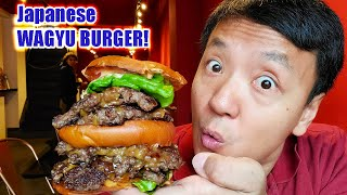 MASSIVE Japanese A5 WAGYU BEEF BURGER for Breakfast in Tokyo Japan