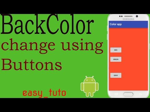 Background Colour | Buttons Onclick | Android Studio Tutorial (Beginners) HD | All About Android