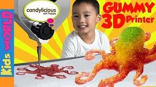 World's First 3D GUMMY CANDY  Printer | Magic Candy Factory | Candylicious Dubai Mall