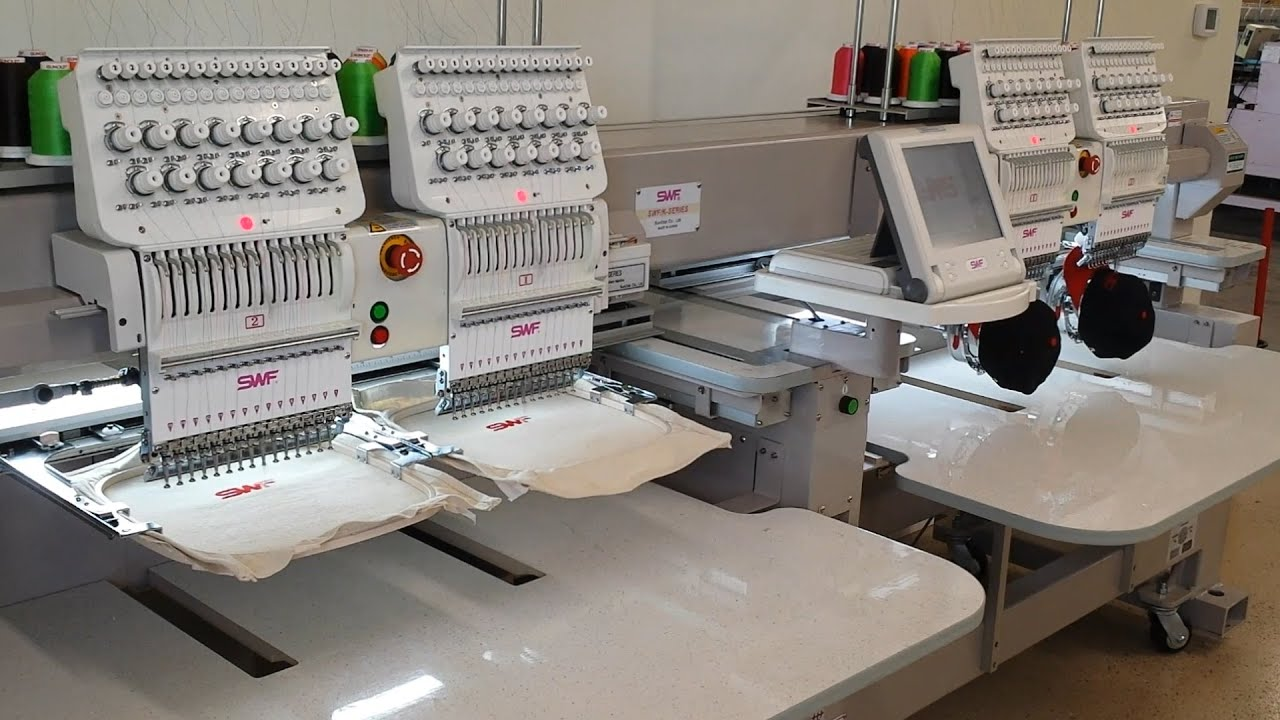 Old Video Swf Embroidery Machines K Uh1504d 45 Youtube