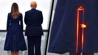 Did Melania Trump's Coat Show a Plane Crashing Into a Tower?