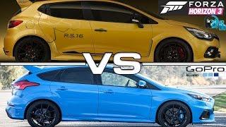 Forza Horizon 3 - GoPro - Clio RS VS Focus ST - Racha de Rua com o Getaway Driver - G27