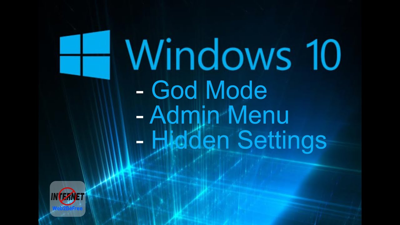 Windows God Mode - Windows 10 Secret Settings - Take control of ...