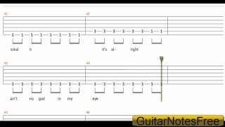 Gold On The Ceiling - The Black Keys Guitar Tab HD + lyrics