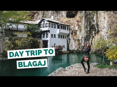 Day Trip to Blagaj Dervish House from Mostar, Bosnia and Herzegovina travel vlog