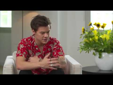 Harry Styles talking but everytime he says