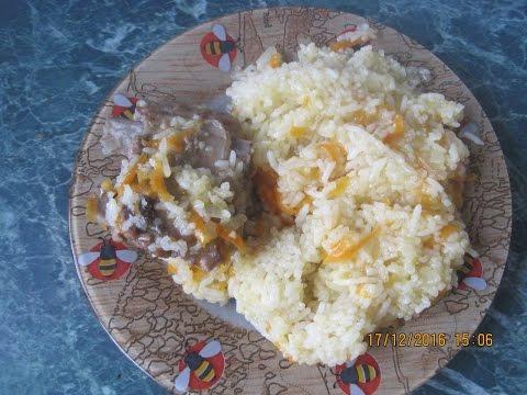 Ребрышки свиные с рисом в мультиварке