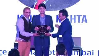 MFRT SAMMAN Award 2017  to Mr. Krunal Mehta | MD & CEO, Mehta Fincon Services Ltd