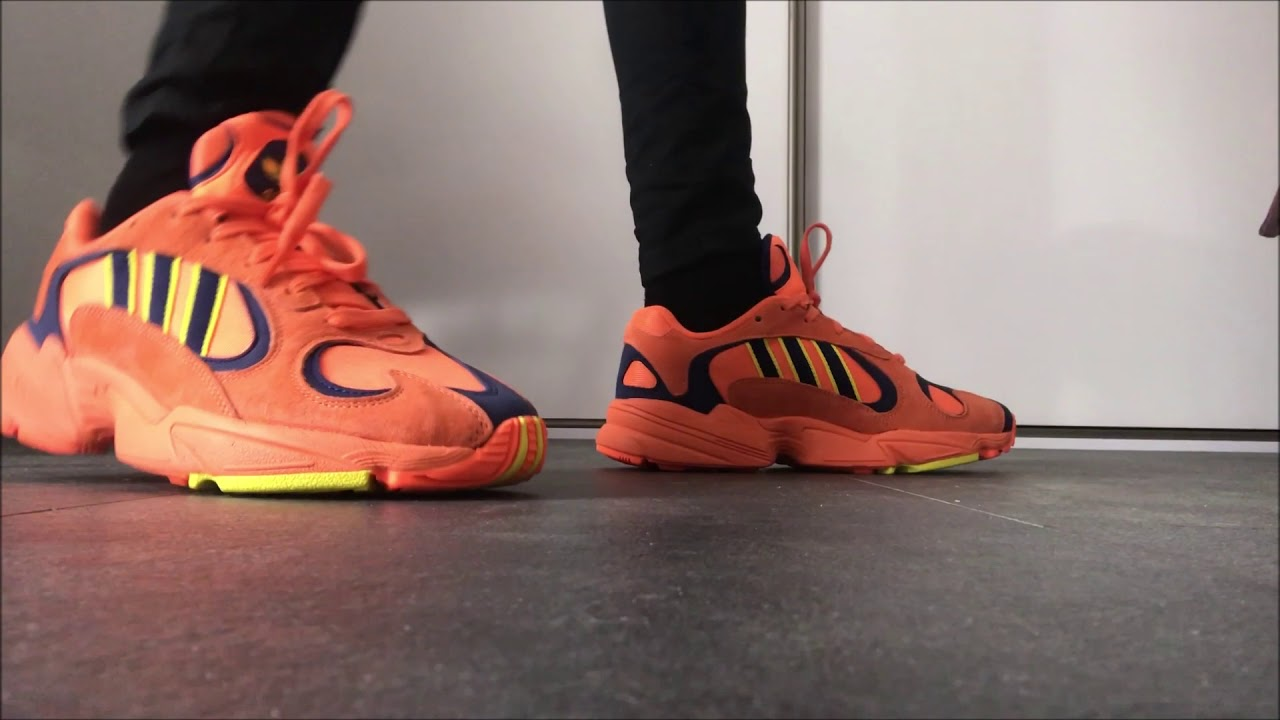 designer fashion low priced classic shoes Adidas Originals YUNG-1 Hi-Res Orange - ON FEET
