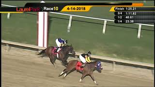 LAUREL PARK 4-14-18 RACE 10