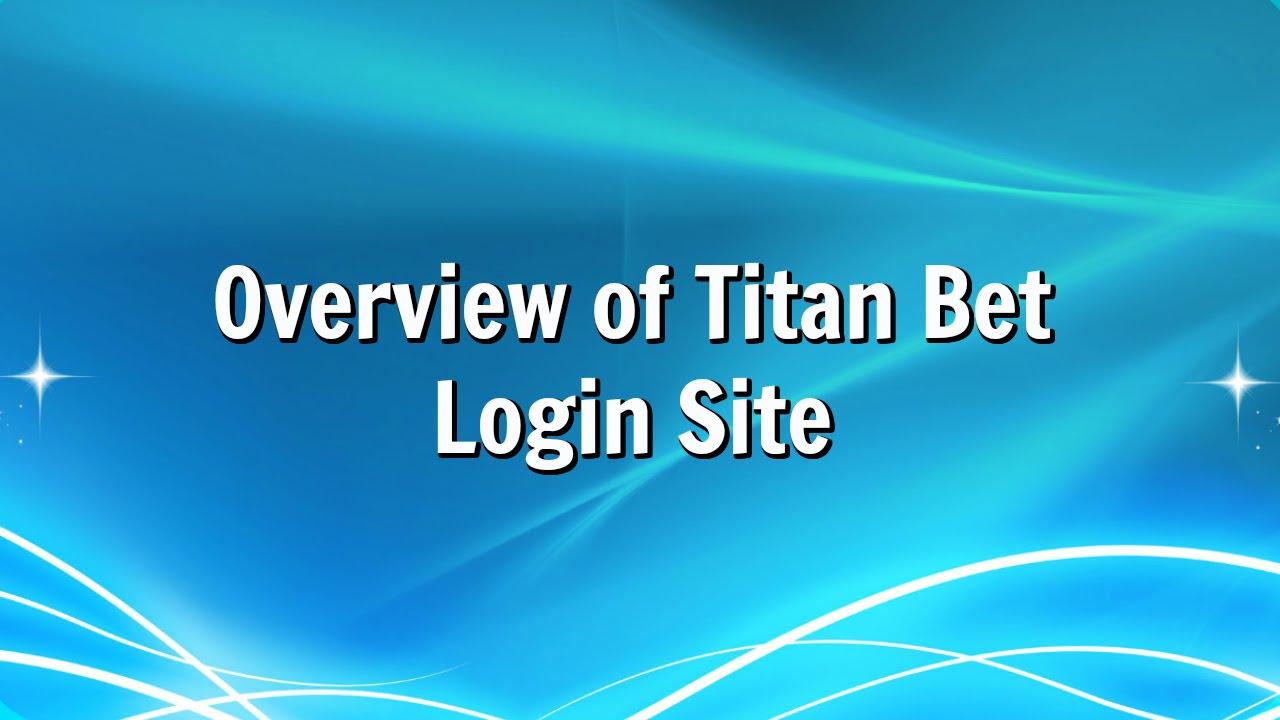 Titan Bet Login