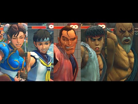 Ultra Street Fighter IV - Shisso Buraiken - ALL CHARACTER (Move Swap) |