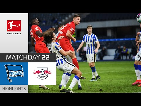 Hertha Berlin RB Leipzig Goals And Highlights