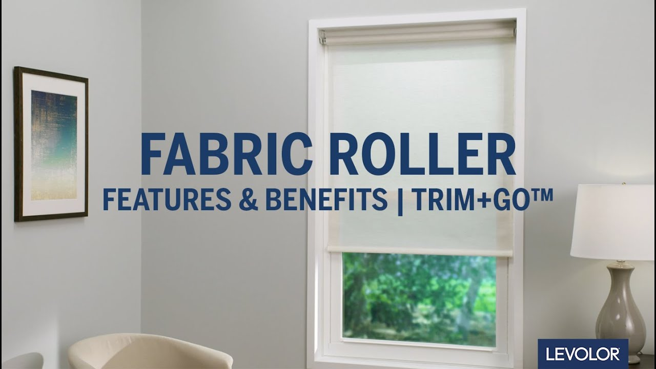 Levolor Trim Go Fabric Roller Shades Features Benefits Youtube