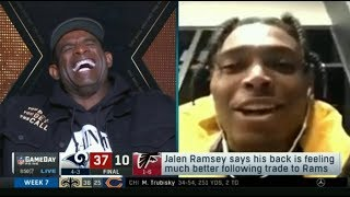 Deion Sanders reacts to Rams crush Falcons 37-10; Packers def. raiders 42-24; Saints def. Bear 36-25