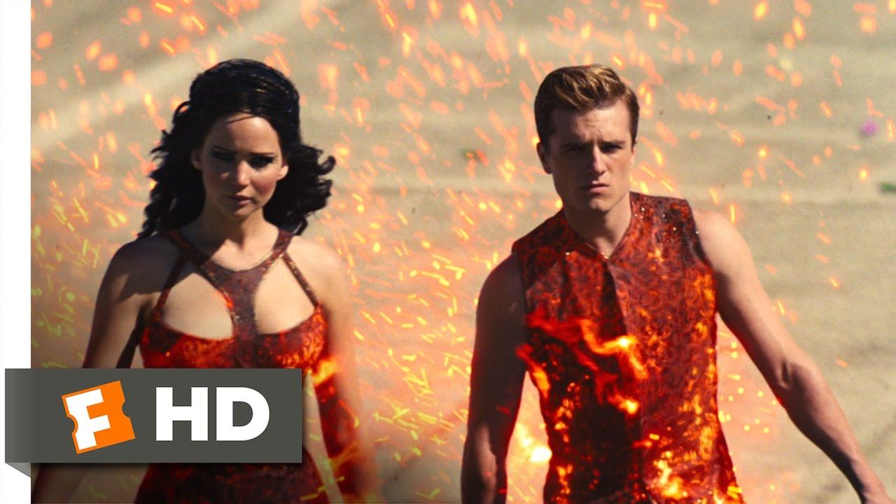 Katniss Catching Fire Chariot Scene