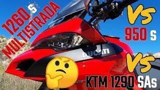 Prueba Ducati Multistrada 1260s VS 950s VS KTM 1290 Super Adventure S