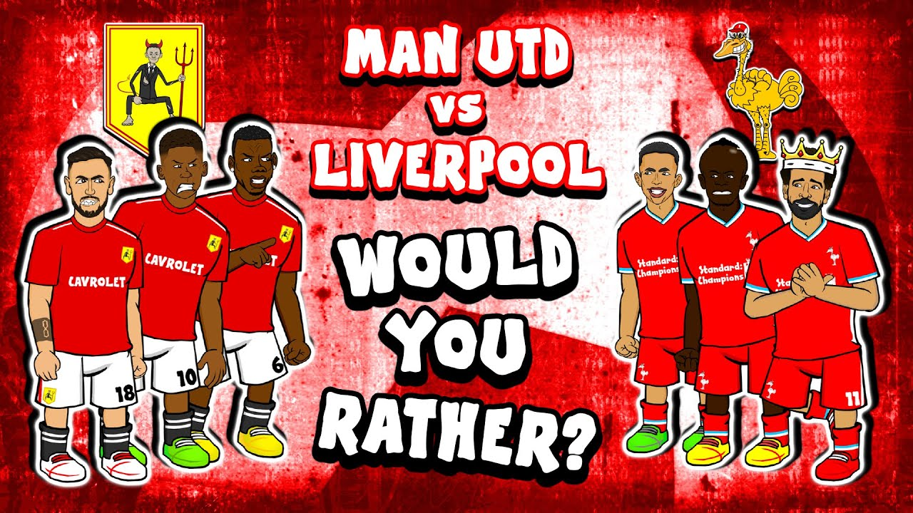 🔴Man Utd vs Liverpool🔴 (#2 Would You Rather Feat Bruno Salah Rashford Mane 2-4 Highlights 2021)