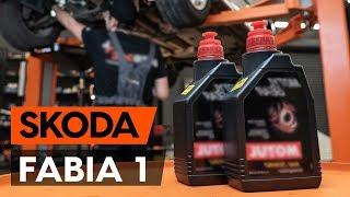 Kuinka vaihtaa vaihteistoöljy / vaihdelaatikon öljy SKODA FABIA 1 (6Y5) -merkkiseen autoon