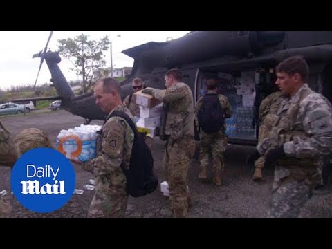 US Aid And Supplies Begin Arriving To Towns In Rural Puerto Rico - Daily Mail
