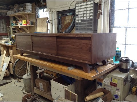 Woodworking: Mid-Century Modern TV Stand + Storage // How-To Part 2