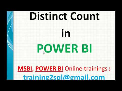 Distinct Count in Power BI-DAX | Distinctcount in DAX - YouTube