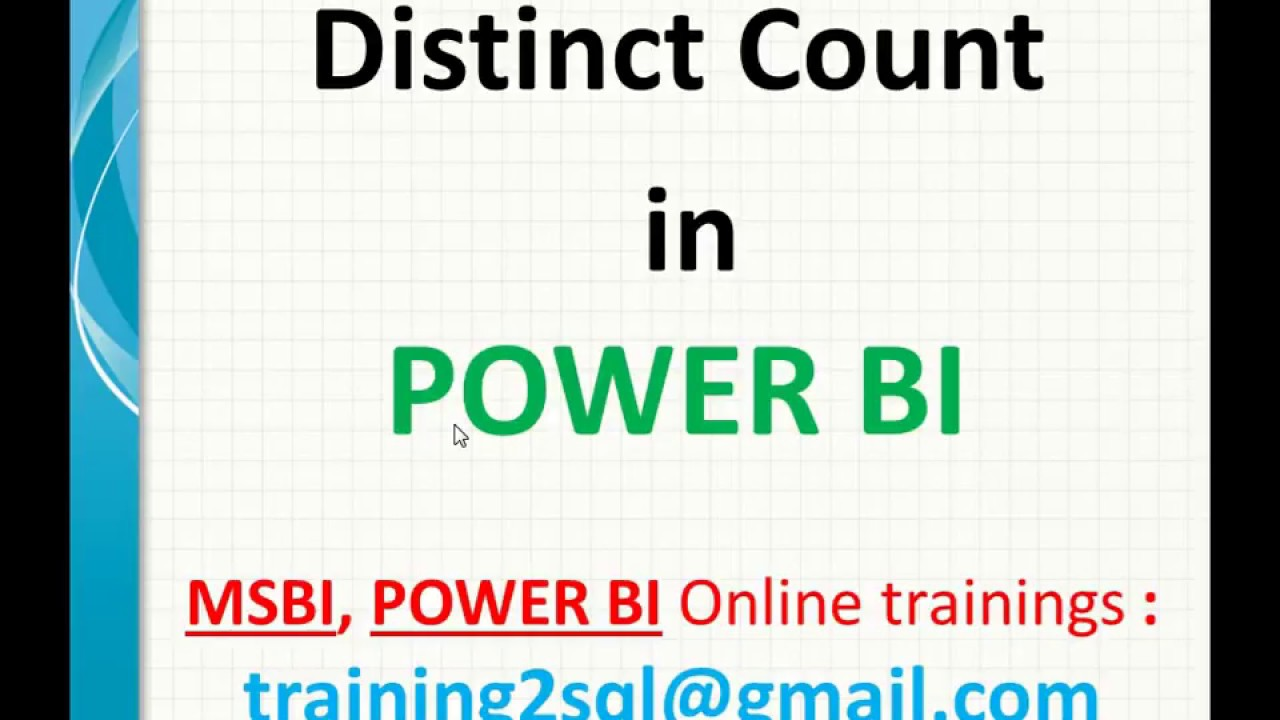Distinct Count in Power BI-DAX | Distinctcount in DAX