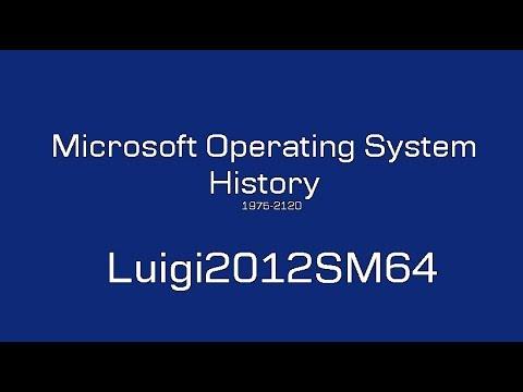 Microsoft Operating System History - Luigi2012SM64