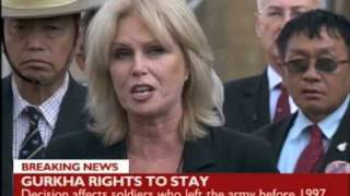 Gurkha rights to stay - the full press release by Joanna Lumley