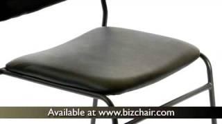 Hercules High Density Black Vinyl Stacking Chair With Sled Base (xu-8700-blk-b-vyl-30-gg)
