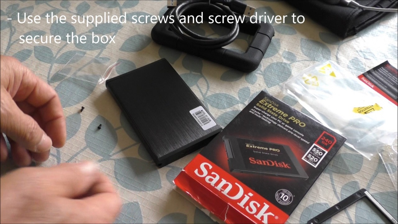 How to Install SSD ScanDisk Using SABRENT USB 3 0 Enclosure