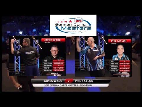 2017 German Darts Masters SF James Wade vs Phil Taylor (Eng)