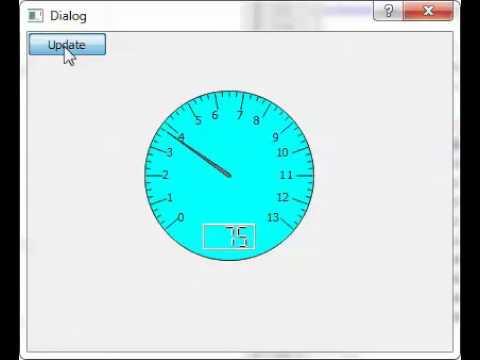 design of speedometer using pyQT