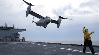 Flight-deck Operations Aboard Navy's New Expeditionary Sea Base: USNS Lewis B. Puller