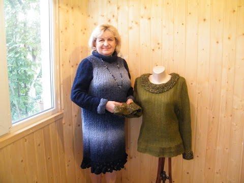 Схемы вязания спицами для женщин из меланжевой пряжи