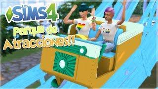 DE VISITA AL PARQUE DE ATRACCIONES!! | Los Sims 4 - Mod Review