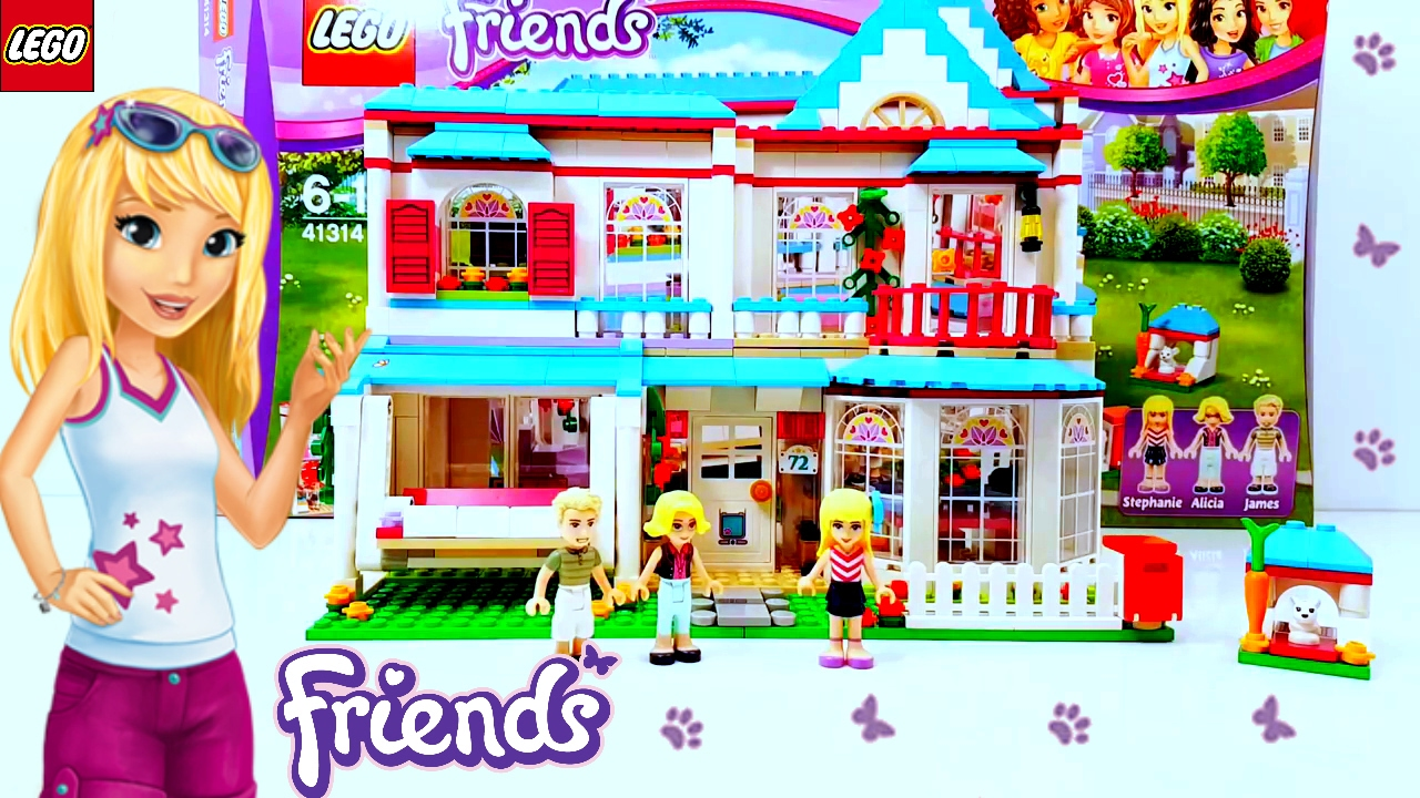 Lego Friends Stephanies House 2017 Building Review 41314 Youtube
