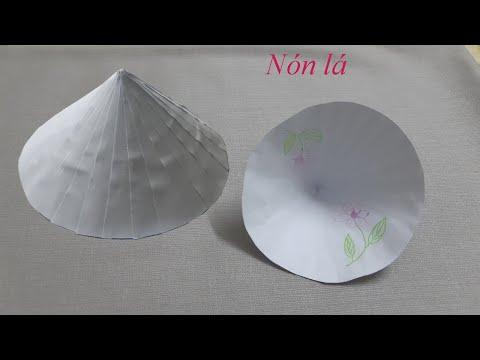 Làm nón lá bằng giấy đơn giản II Leaf cone | Foci