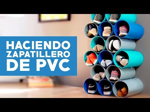 ¿Cómo hacer un zapatillero  de PVC?