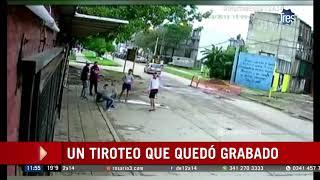 Ataque a tiros desde una moto quedó grabado