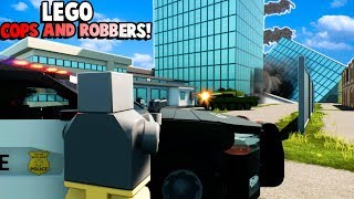 HUGE LEGO COPS AND ROBBERS BATTLE! (Brick Rigs Gameplay Roleplay) Lego Cops vs Lego Robbers!