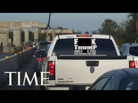 Download Youtube: Driver Of The Truck With A Vulgar Message To President Trump Arrested On Warrant In Texas   TIME
